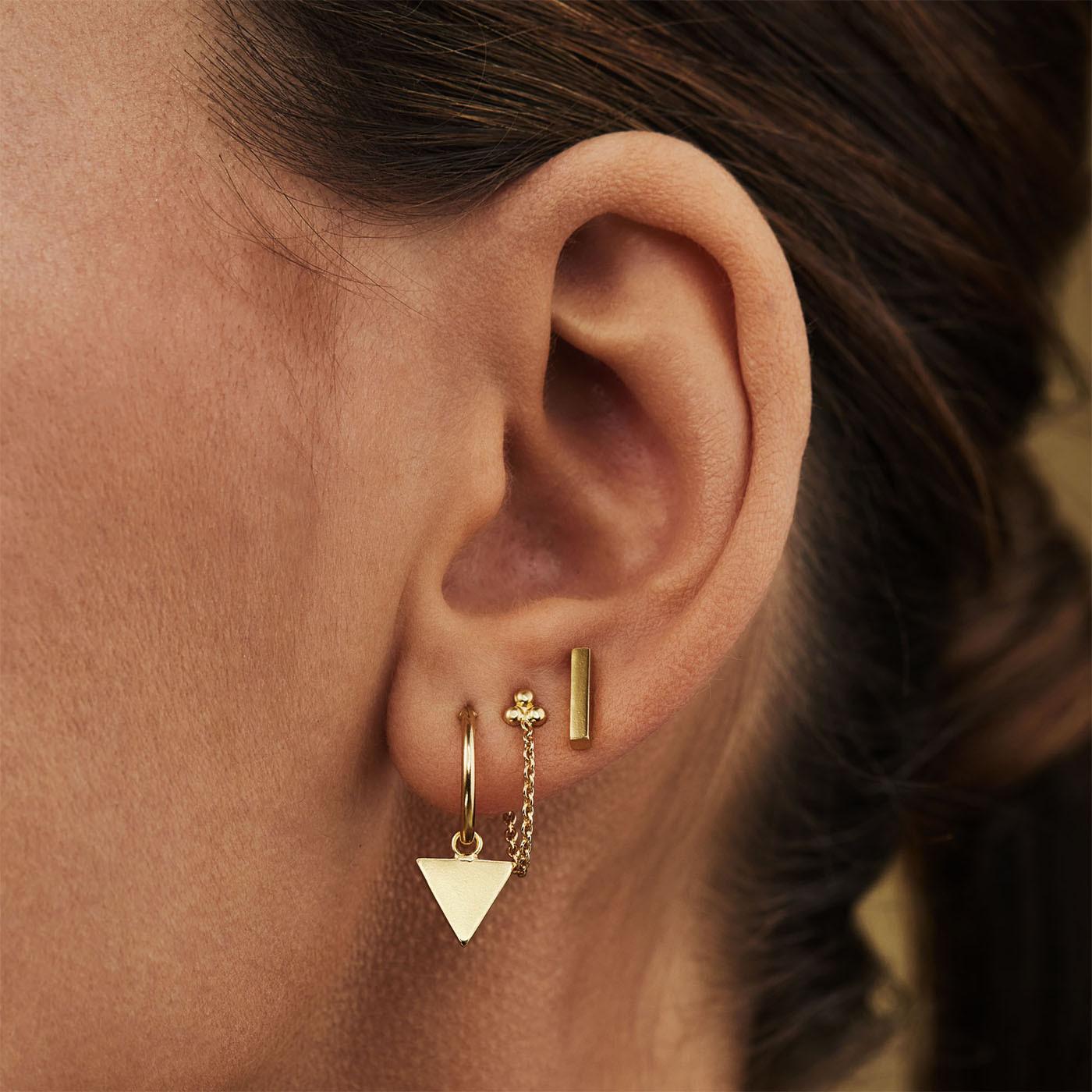 Selected Jewels Selected Gifts 925 sterling zilveren goudkleurige set oorbellen SJSET380001
