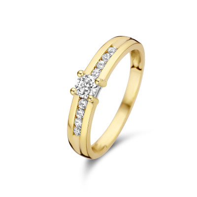 Isabel Bernard 14 Karaat Gouden Le Marais Estee Ring IB4020072