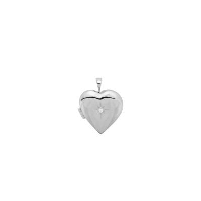 ANNA + NINA 925 Sterling Zilveren Heart of Gold Ketting Bedel 21-1M904013S