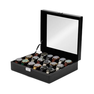 Mats Meier Mont Fort zarne pudełko na zegarek - 18 zegarków