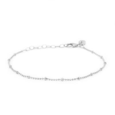 Karma 925 Sterling Zilveren Dots Diamonds Armband 94127S (Lengte: 16.50 - 19.00 cm)
