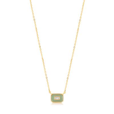 Ania Haie 925 Sterling Zilver Goudkleurige Bright Future Ketting AH-N028-02G-G (Lengte: 48.00 cm)