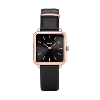CLUSE La Tétragone Roségoudkleurig/Zwart 29mm horloge CL60007