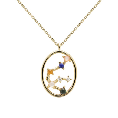 P D Paola Goudkleurige Aquarius Ketting CO01-342-U