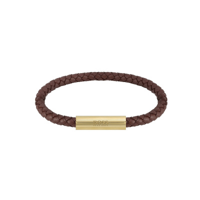 BOSS Braided Leather Armband HBJ1580151 (Lengte: 19.00 cm)