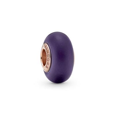 Pandora Colours Matte Purple Murano Glass Bedel 789547C00