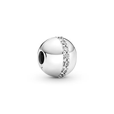 Pandora Timeless 925 Sterling Zilveren Sparkling Line Clip Hanger 799403C01