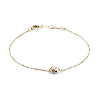 Isabel Bernard Tricolore Maeva 14 Karaat Gouden Armband Met Drie Kleuren Goud IB320051