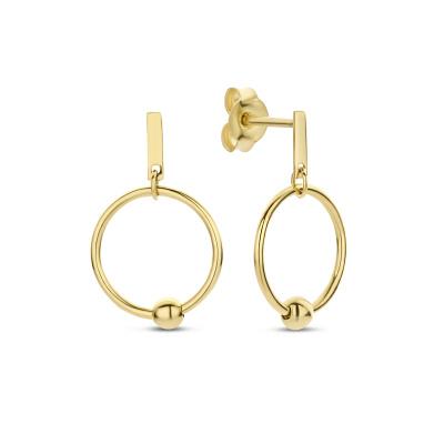 Isabel Bernard Belleville Odette 14 Karaat Gouden Oorbellen IB360092