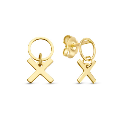 Isabel Bernard Belleville Bisou 14 Karaat Gouden Oorknoppen IB360099