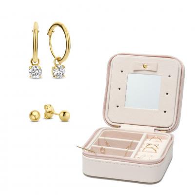 Isabel Bernard 14 Karaat Gouden Earparty en Sieradenbox Giftset IB90007