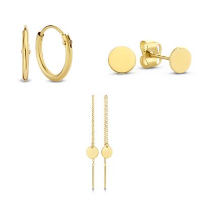 Isabel Bernard 14 Karaat Gouden Earparty Giftset IB90017