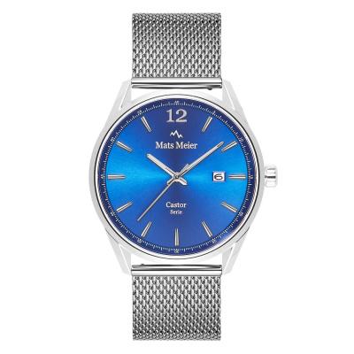 Mats Meier Castor Blauw/Zilverkleurig horloge MM01007