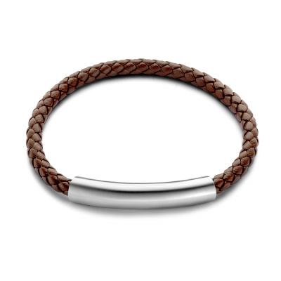 Mats Meier Dent Blanche Single Braided Armband Bruin MM320003