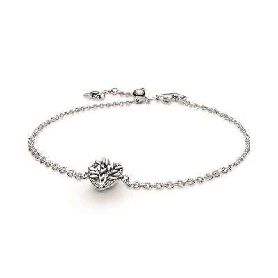 Pandora People 925 Sterling Zilveren Heart Family Tree Chain Bracelet 599292C01-20