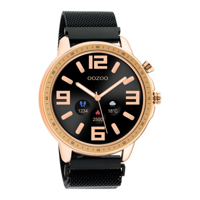 OOZOO Zwart/Roségoudkleurig Display Smartwatch Q00308
