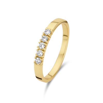 Selected Jewels Mila Elodie 925 Sterling Zilveren Goudkleurige Ring SJ300018