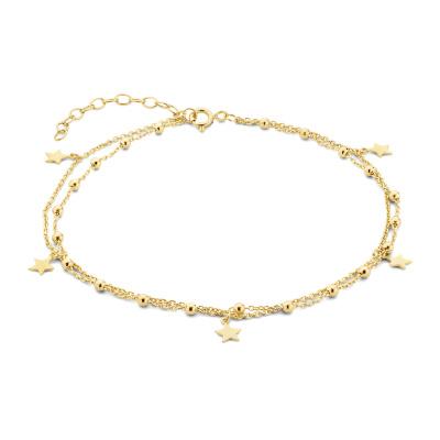 Selected Jewels Julie Esthée 925 Sterling Zilveren Goudkleurig Enkelbandje SJ310005