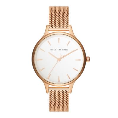 Violet Hamden Day & Night Evening Rosegold horloge VH01018