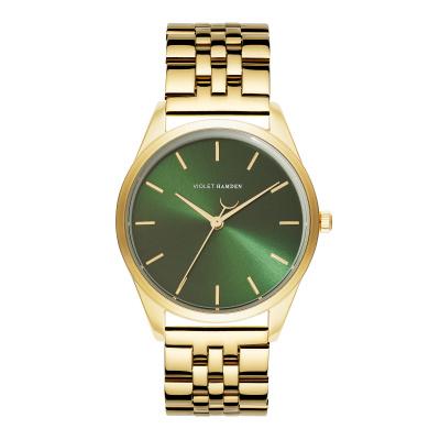 Violet Hamden Serene City Goudkleurig/Groen horloge VH04007