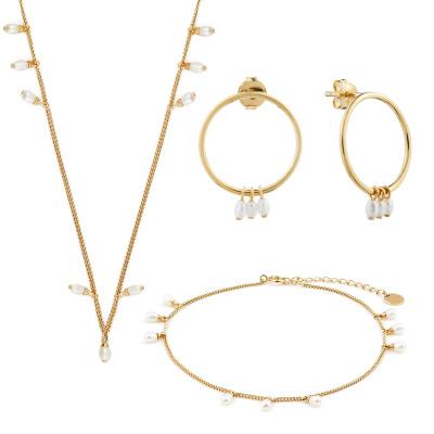 Violet Hamden Luminous Lake 925 Srebrny zestaw upominkowy z biżuterią w kolorze złota VH90015